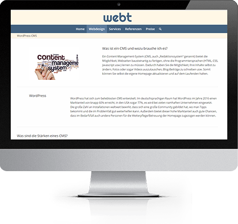 WEBT für Desktop